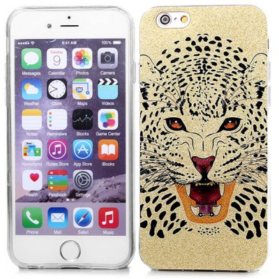 Ultrathin Tiger Pattern TPU Material Back Case for iPhone 6  -  4.7 inches