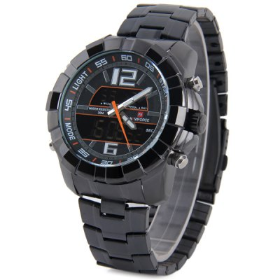 Гаджет   Naviforce 9025 IP Plating Sports Military Watch LCD Multi - function Sports Watches