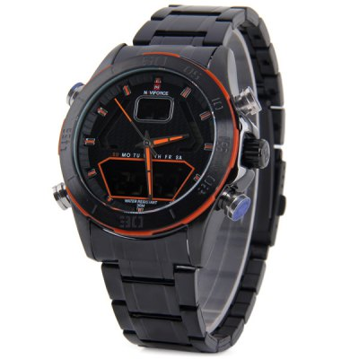 Гаджет   Naviforce 9022 Sports Military Watch LCD Multi - function Dual - movt Sports Watches
