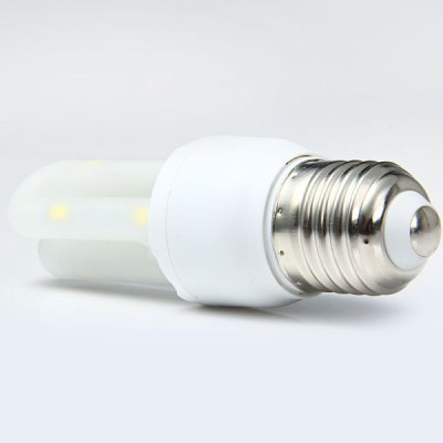 E27 2U 3W 8 x SMD 5730 275Lm LED Corn Light Daylight U - shaped Downlight ( 85  -  265V )LED Light Bulbs<br>E27 2U 3W 8 x SMD 5730 275Lm LED Corn Light Daylight U - shaped Downlight ( 85  -  265V )<br><br>Base Type: E27<br>Type: Corn Bulbs<br>Output Power: 3W<br>Emitter Type: SMD-5730 LED<br>Total Emitters: 8<br>Actual Lumen(s): 275Lm<br>Wavelength/Color Temperature: 5500-6000K, 3000-3500K<br>Voltage (V): AC85-265<br>Angle: 360 degrees<br>Lifespan: ?30000 hrs<br>Appearance: U Shape<br>Features: Energy Saving, Long Life Expectancy, Low Power Consumption<br>Function: Studio and Exhibition Lighting, Home Lighting, Commercial Lighting<br>Available Light Color: Cold White, Warm White<br>Sheathing Material: Ground Glass<br>Product Weight: 0.052 kg<br>Package Weight: 0.08 kg<br>Product Size (L x W x H): 10.7 x 3.4 x 3.4 cm / 4.21 x 1.34 x 1.34 inches<br>Package Size (L x W x H): 12.5 x 5 x 5 cm / 4.91 x 1.97 x 1.97 inches<br>Package Contents: 1 x Energy Saving E27 2U 3W 8 SMD 5730 LEDs U-shaped Light