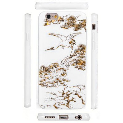 ФОТО Ultrathin Crane Pattern TPU Material Back Case for iPhone 6  -  4.7 inches