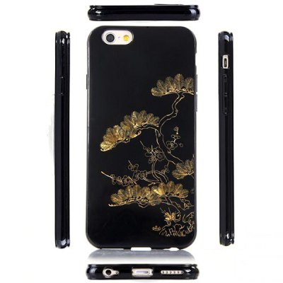 ФОТО Ultrathin Pinetree Pattern TPU Material Back Case for iPhone 6  -  4.7 inches