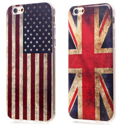 ФОТО Ultrathin the Union Jack Pattern TPU Material Back Case for iPhone 6 / 6S - 4.7 inches