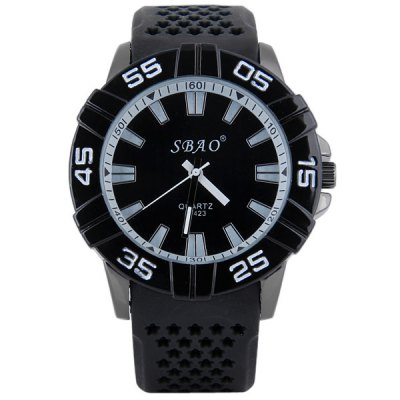 S - 423 Large Dial Holow - out Rubber Band Sports Watch