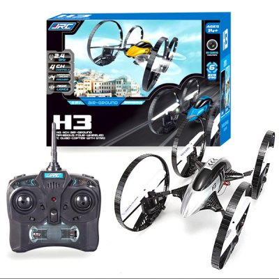 ФОТО JJRC H3 Air  -  Ground Airphibian 2.4G 4 Channel RC Quadcopter with 2.0MP Camera Four  -  Wheel Built  -  In 6 Axis Gyro UFO