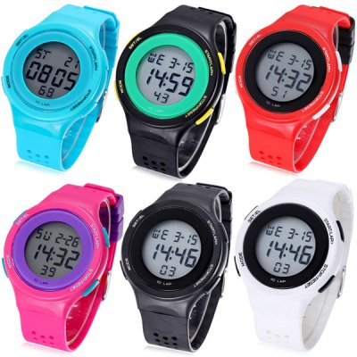 Shhors Jiangyuyan Military LED Watch Water Resistant Day and Date for Sports