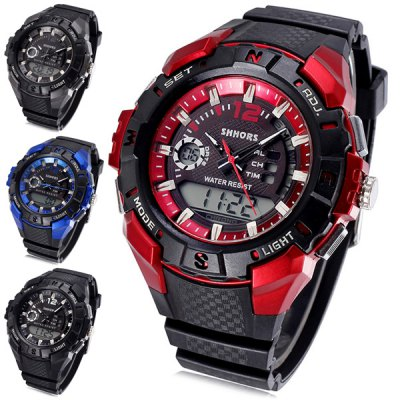 Shhors 803 Jiangyuyan Digital Analog LED Sports Military Watch Water Resistant Date Day Function