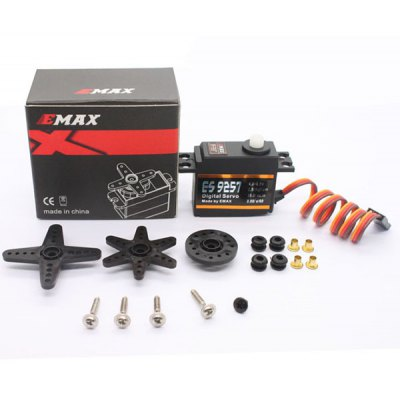 EMAX ES9257 Plastic Gear Digital Lock Tail Servo for 450 Helicopters RC Model Spares