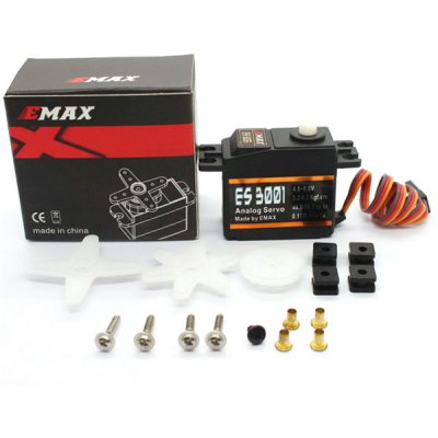 EMAX ES3001 Universal Plastic Gear Analog Servo with Bearing for RC Models