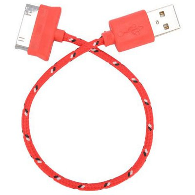 Гаджет   20cm Woven Design 30pin Data Sync / Charging Cable for iPhone 4 / 4S iPad 2 iPhone Cables & Adapters