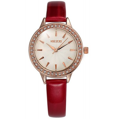 Kezzi Women Diamond Bezel Quartz Watch