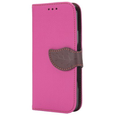 Гаджет   Leaf Magnetic Buckle Lichee Pattern Phone Cover PU Case Skin with Stand Function for HTC One 2 M8 Other Cases/Covers