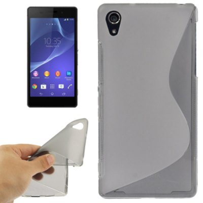 S Shape Soft Gel TPU Back Cover Case for Sony Xperia Z2 L50W D6502 D6503