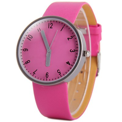 Гаджет   Bright Colors Women Quartz Watch with Leather Strap Round Dial Women