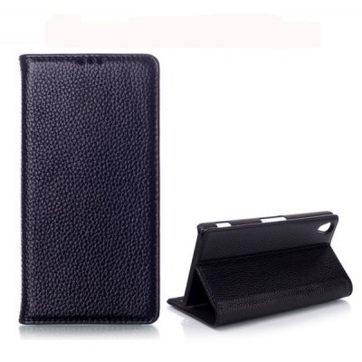 Wallet Style Stand Function Leather Case for Sony Xperia Z2 L50W D6502 D6503