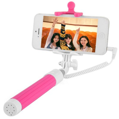 Гаджет   3.5mm Jack Cable Connect RC Self Timer Stretch Monopod Camera Shutter with Rearview Mirror iPhone Selfie Monopod