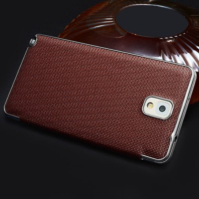 ФОТО Moby View Window Design Flip Genuine Leather Cover Case for Samsung Galaxy Note 3 N9008 N9009 N9006