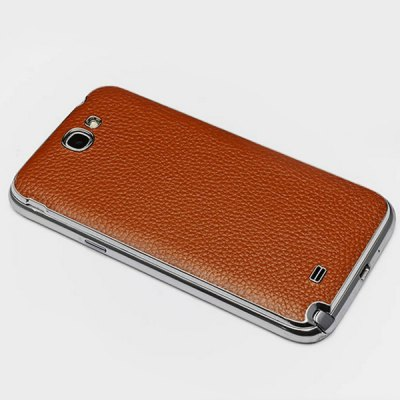 ФОТО Moby Genuine Leather Phone Back Case of Lichee Pattern Design for Samsung Galaxy Note 2 N7100 N719 N7102