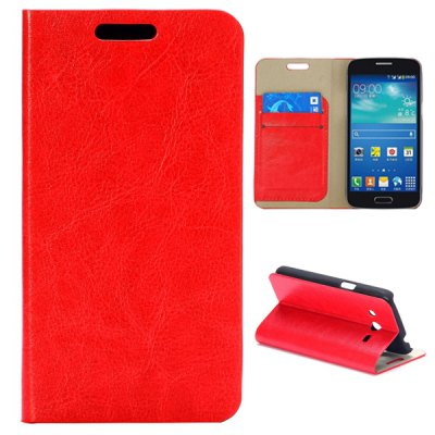 Wallet Style Card Slot Leather Case for Samsung Galaxy Core 4G TD-LTE G3518 G386F