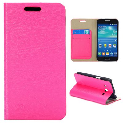 Card Slot Magnetic Flip Stand Leather Case for Samsung Galaxy Core 4G TD - LTE G3518 G386F