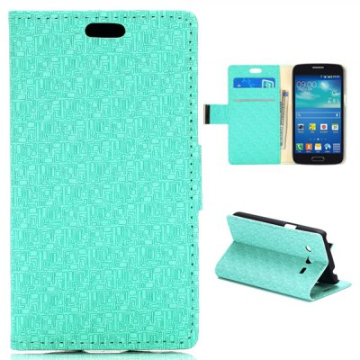Card Slot Stand Function Leather Case for Samsung Galaxy Core 4G TD - LTE G3518 G386F