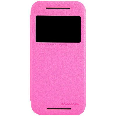 Гаджет   Nillkin Sparkle Series View Window Pattern Flip PU Leather Case for HTC One Mini 2 / M8 Mini Other Cases/Covers