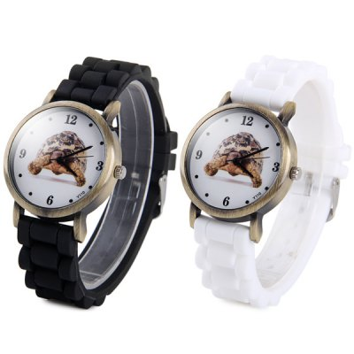 Y110 Unisex Quartz Watch Turtle Pattern Round Dial Rubber StrapUnisex Watches<br>Y110 Unisex Quartz Watch Turtle Pattern Round Dial Rubber Strap<br><br>People: Unisex table<br>Watch style: Fashion<br>Available color: White, Black<br>Shape of the dial: Round<br>Movement type: Quartz watch<br>Display type: Analog<br>Case material: Alloys<br>Band material: Rubber<br>Clasp type: Pin buckle<br>The dial thickness: 0.7 cm / 0.28 inches<br>The dial diameter: 3.6 cm / 1.41 inches<br>The band width: 2.0 cm / 0.79 inches<br>Product weight: 0.040 kg<br>Package weight: 0.09 kg<br>Product size (L x W x H) : 23.6 x 3.6 x 0.7 cm / 9.27 x 1.41 x 0.28 inches<br>Package size (L x W x H): 24.6 x 4.6 x 1.7 cm / 9.67 x 1.81 x 0.67 inches<br>Package contents: 1 x Watch