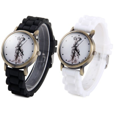 Y116 Unisex Quartz Watch Dog Pattern Round Dial Rubber StrapUnisex Watches<br>Y116 Unisex Quartz Watch Dog Pattern Round Dial Rubber Strap<br><br>People: Unisex table<br>Watch style: Fashion<br>Available color: Black, White<br>Shape of the dial: Round<br>Movement type: Quartz watch<br>Display type: Analog<br>Case material: Alloys<br>Band material: Rubber<br>Clasp type: Pin buckle<br>The dial thickness: 0.7 cm / 0.28 inches<br>The dial diameter: 3.6 cm / 1.41 inches<br>The band width: 2.0 cm / 0.79 inches<br>Product weight: 0.040 kg<br>Package weight: 0.09 kg<br>Product size (L x W x H) : 23.6 x 3.6 x 0.7 cm / 9.27 x 1.41 x 0.28 inches<br>Package size (L x W x H): 24.6 x 4.6 x 1.7 cm / 9.67 x 1.81 x 0.67 inches<br>Package contents: 1 x Watch