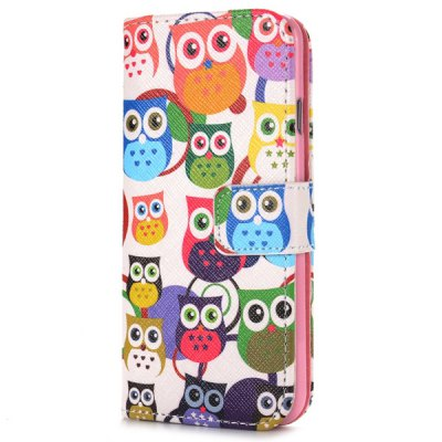 Гаджет   Cute Owl Style Full Body Case with Credit Card Holder Stand Function for iPHone 6  -  4.7 inches iPhone Cases/Covers