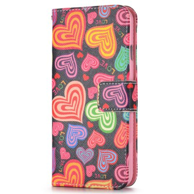 Heart Desing Full Body Case with Credit Card Holder Stand for iPhone 6  -  4.7 inches