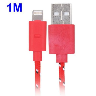 Гаджет   1m Woven Design 8pin Data Sync / Charging Cable for iPhone 6 / 6 Plus iPhone 5 iPad Mini iPhone Cables & Adapters