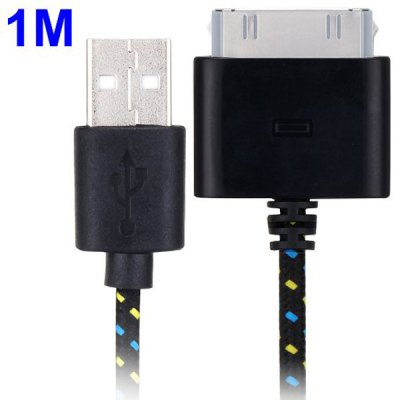 Фотография 100cm Woven Design 30pin Data Sync / Charging Cable for iPhone 4 / 4S iPad 2