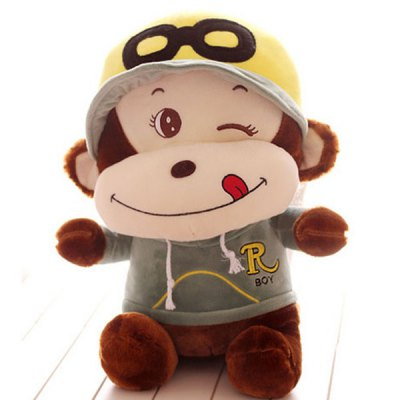 Гаджет   Cute 40cm Monkey Plush Doll with Hat Sportswear Stuffed Toy Kids Gift Dolls & Action Figures