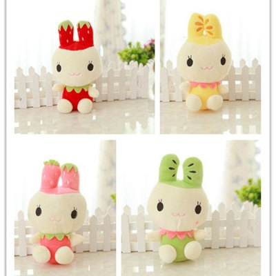 Гаджет   Cute 20cm Strawberry Design Rabbit Plush Doll with Hat Stuffed Toy Kids Gift