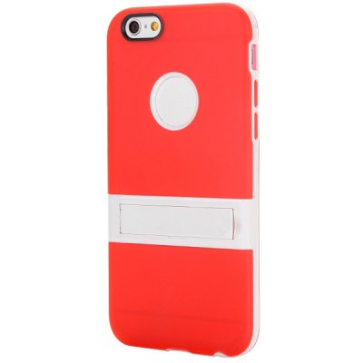 Гаджет   Logo Cutout Design Back Cover Case with Stand for iPhone 6  -  4.7 inches iPhone Cases/Covers
