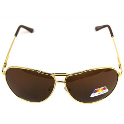 Male Polarizer Sunglasses with Metal Frame