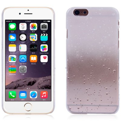 Гаджет   Raindrop Pattern PC Material Gradual Color Back Case Cover for iPhone 6 / 6S  -  4.7 inches iPhone Cases/Covers