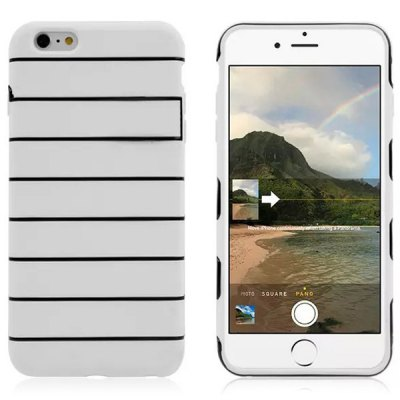 Гаджет   Stripe Pattern TPU and PC Material Back Case Cover for iPhone 6  -  4.7 inches