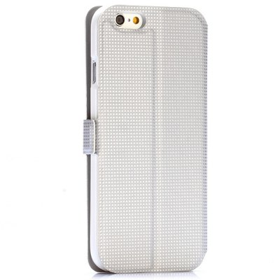 Фотография Rhombus Pattern Style PU Leather Full Body Case with Credit Card Holder Stand for iPhone 6  -  4.7 inches