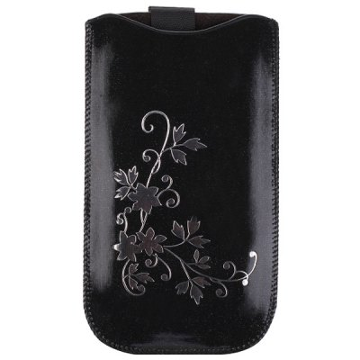 Гаджет   Flower Design Soft Sleeve Pouch Bag Leather Case for iPhone 6  -  4.7 inches iPhone Cases/Covers