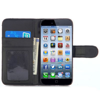 Фотография Grid Style PU Leather Full Body Case with Credit Card Holder Stand for iPhone 6  -  4.7 inches