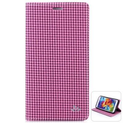 Гаджет   ViLi PU and PC Material Grid Pattern Cover Case for Samsung Galaxy S5 i9600 SM - G900 Samsung Cases/Covers