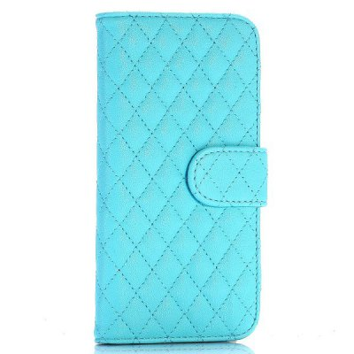 Grid Style PU Leather Full Body Case with Credit Card Holder Stand for iPhone 6  -  4.7 inches