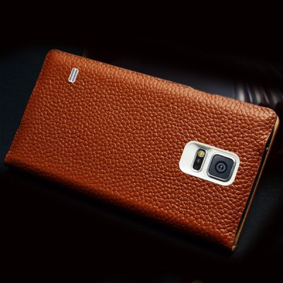 Гаджет   Moby Flip Lichee Pattern Genuine Leather Phone Case with View Window for Samsung Galaxy S5 i9600 SM - G900 Samsung Cases/Covers