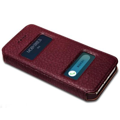 Гаджет   Mending Moby Anti - dust TPU + Leather Stand Function Full Body Case for iPhone 5 / 5S iPhone Cases/Covers