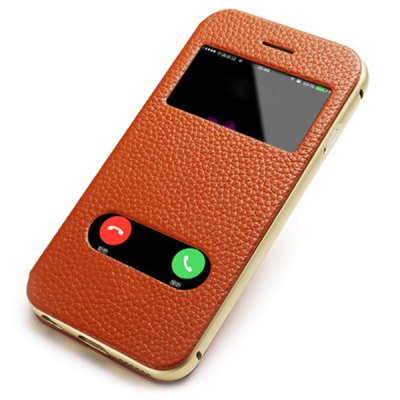 Фотография Moby Anti - dust Aluminium Alloy + Leather Stand Function Full Body Case for iPhone 6  -  4.7 inch