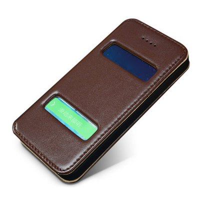 Moby Anti - dust Plastic + Leather Stand Function Full Body Case for iPhone 5 / 5S