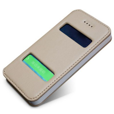 Moby Anti-dust Plastic + Leather Stand Function Full Body Case for iPhone 5 / 5S