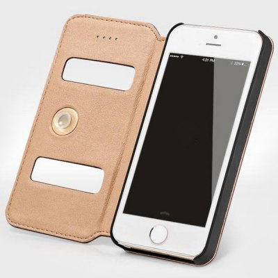 Фотография Moby Anti - dust Plastic + Leather Stand Function Full Body Case for iPhone 5 / 5S