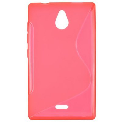 ФОТО S Shape Desing TPU Material Back Cover Case for Nokia X2 1013
